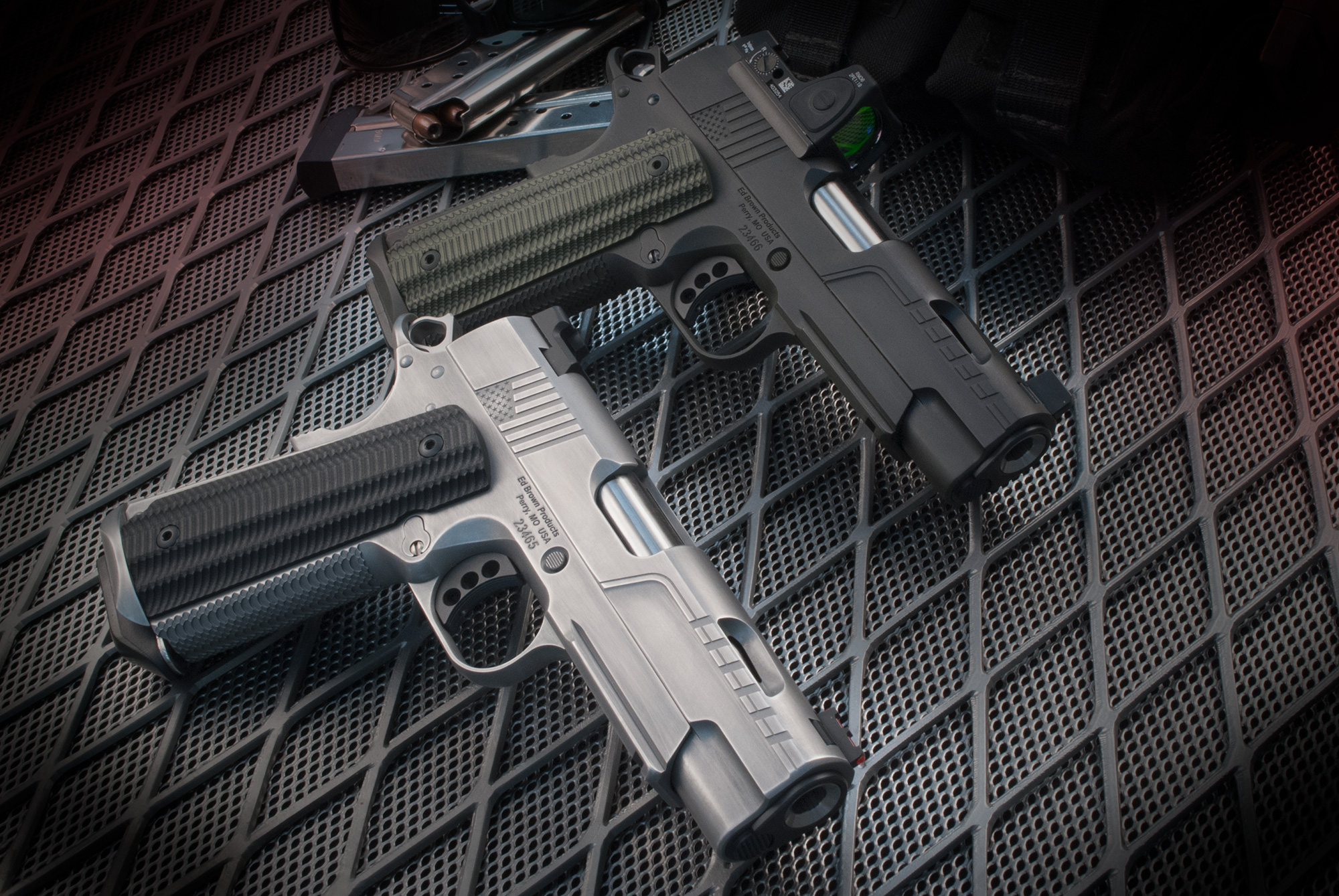 FX1 stainless and dirty olive 1911