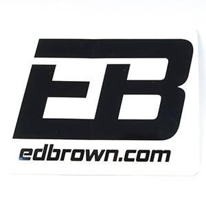 Ed Brown logo sticker