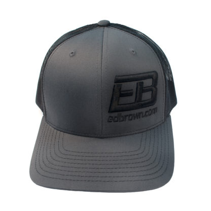 charcoal grey and black Ed Brown logo hat