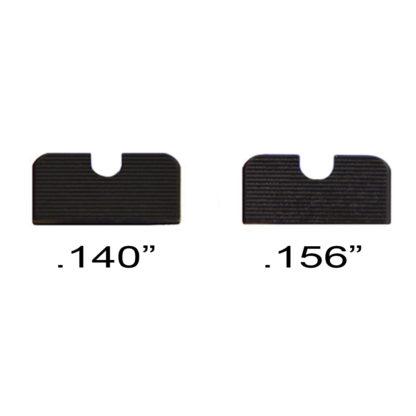 ".140"" and .156"" U-notch rear sights"