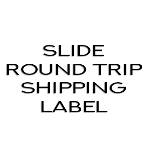 Slide round trip shipping label