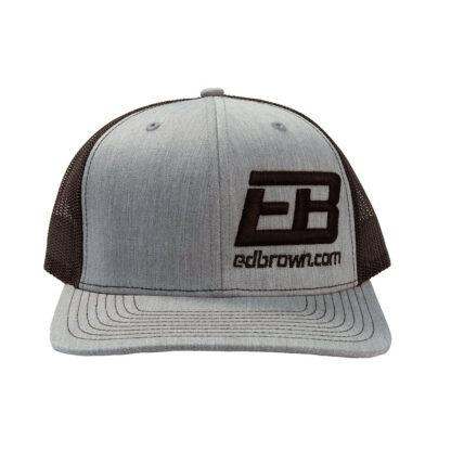 black heather grey Ed Brown logo hat