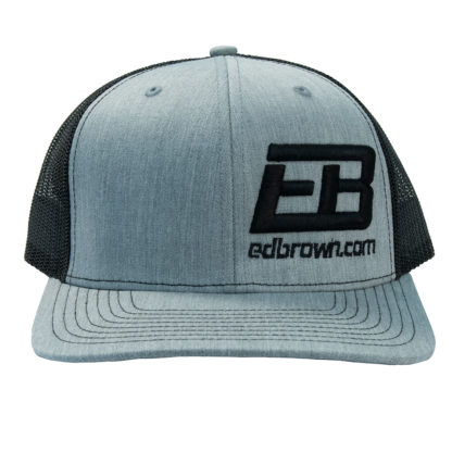 black heather grey Ed Brown logo hat