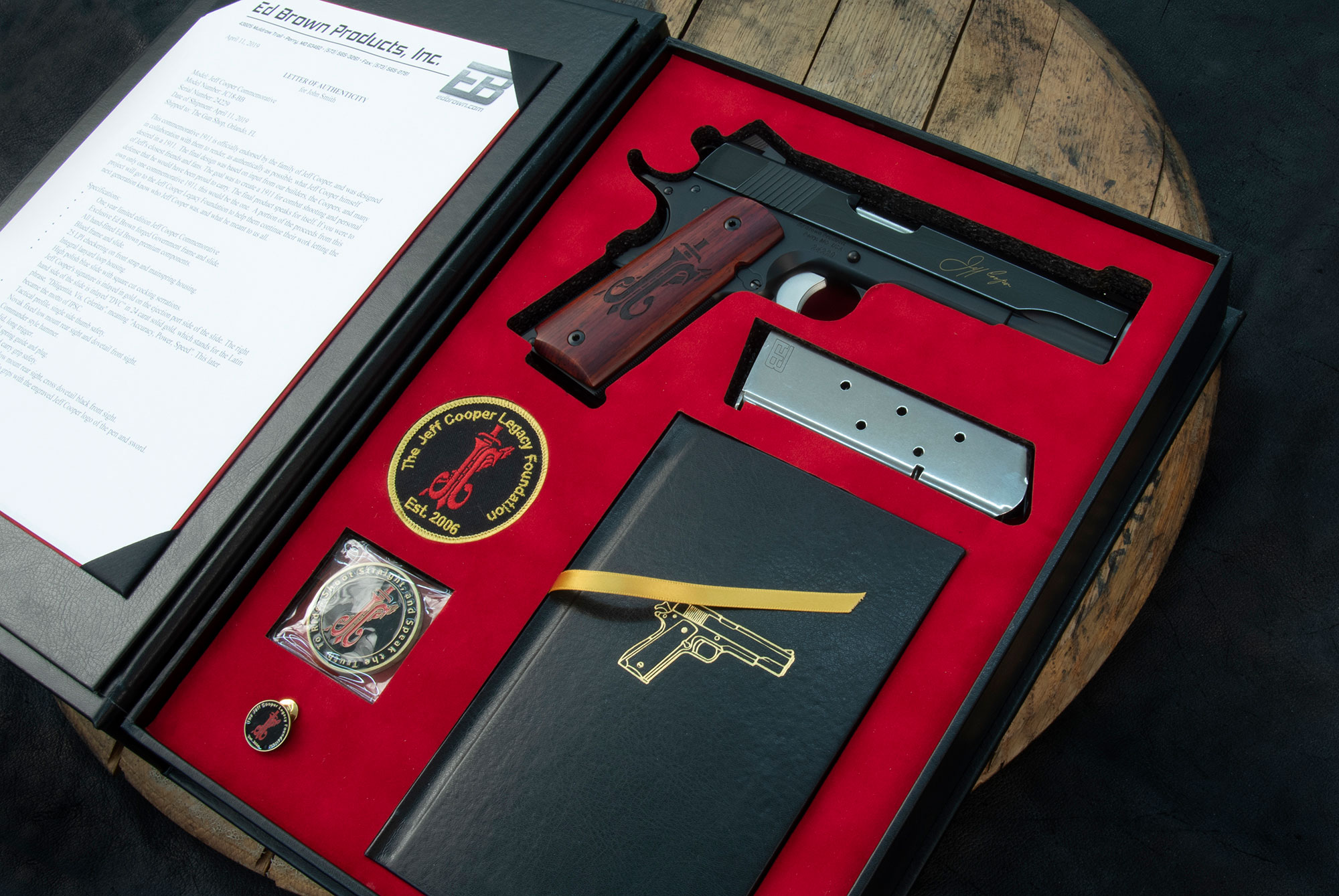 Jeff Cooper 1911 in case
