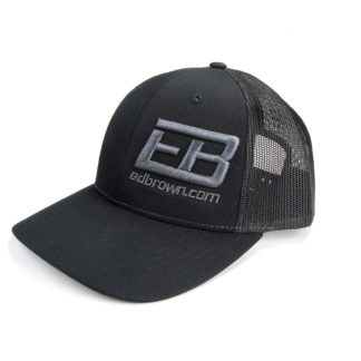 black hat with Ed Brown logo side