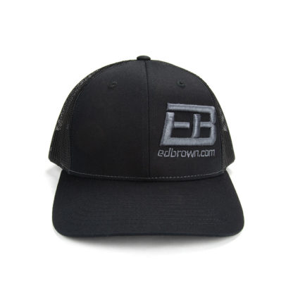 black hat with Ed Brown logo front