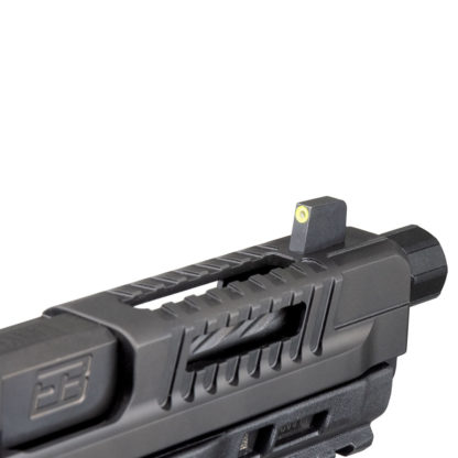 F1 slide detail and front sight