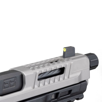 Fueled series slide detail and front sight