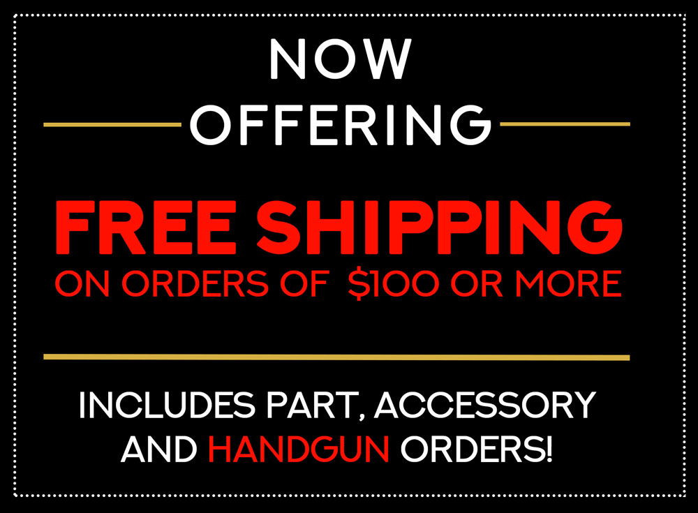Now offering free shipping