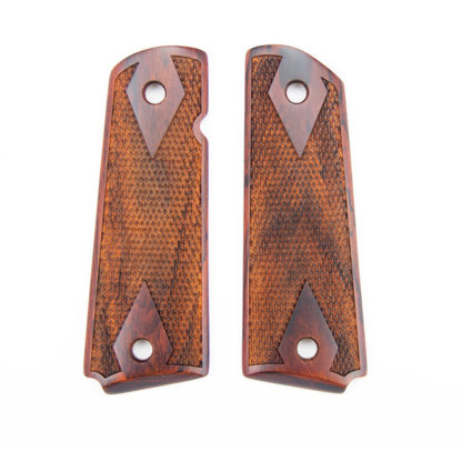 cocobolo double diamond grips with border