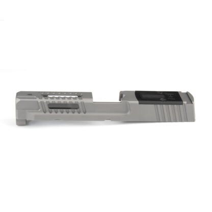 stainless Fueled M&P slide left side